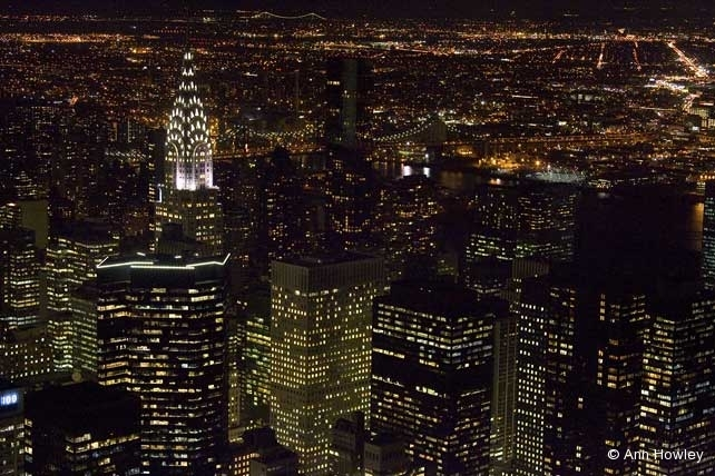 Night from Empire State Builidng, New York